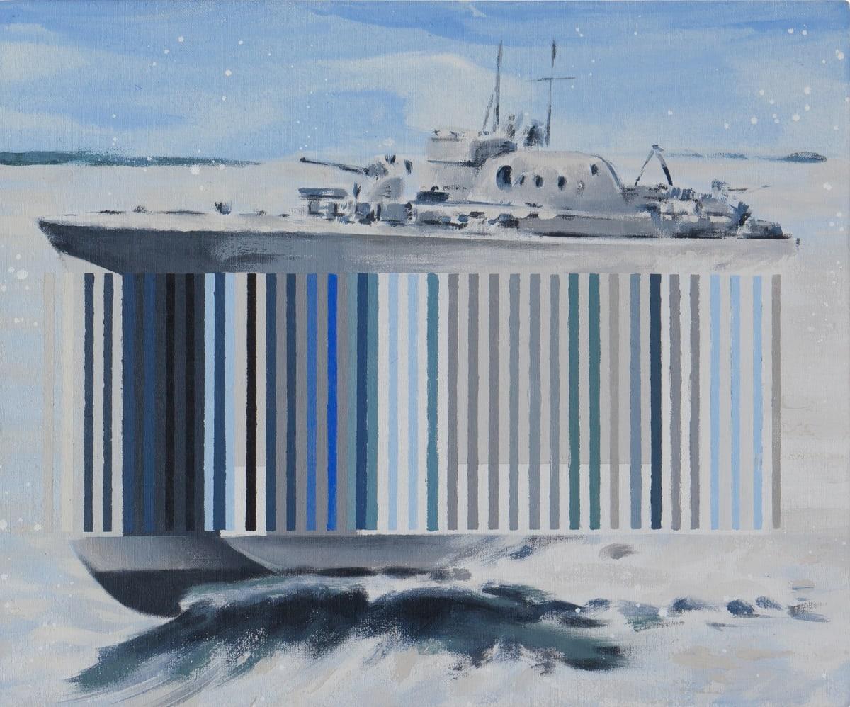 Darren Coffield Spectre III, 2019 Acrylic on canvas 35.5 x 43 cm