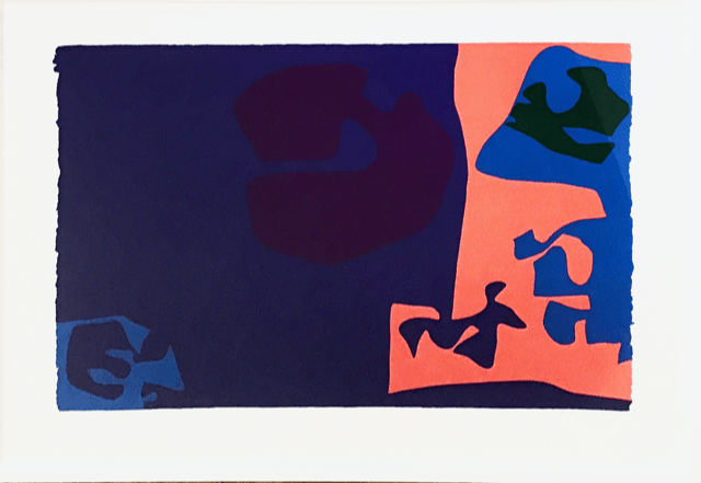 Patrick Heron January 1973 : Plate 18, 1973 Original screenprint, 1973, in colours, signed and dated by the artist in pencil, verso is the Publishers stamp Image: 58.6 x 81.4 cm Sheet: 92.3 x 68 cm Framed: 88 x 111.5 cm Arist proof (Edition of 72, signed)