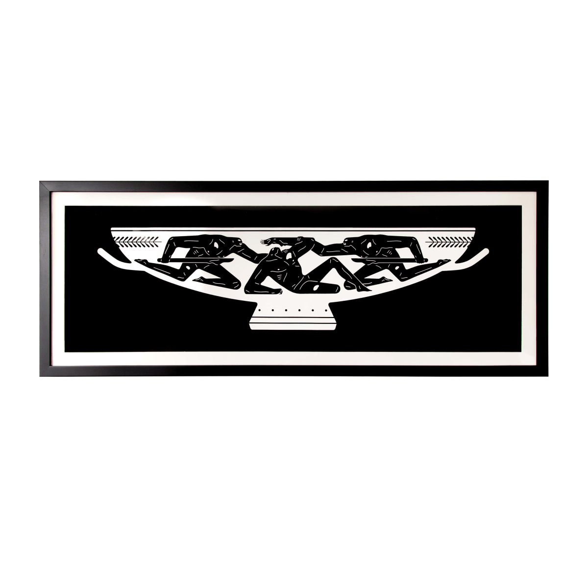 Cleon Peterson Kylix, 2018 Screenprint on 290gsm Coventry rag paper with deckled edges 86 x 28 cm Edition of 150