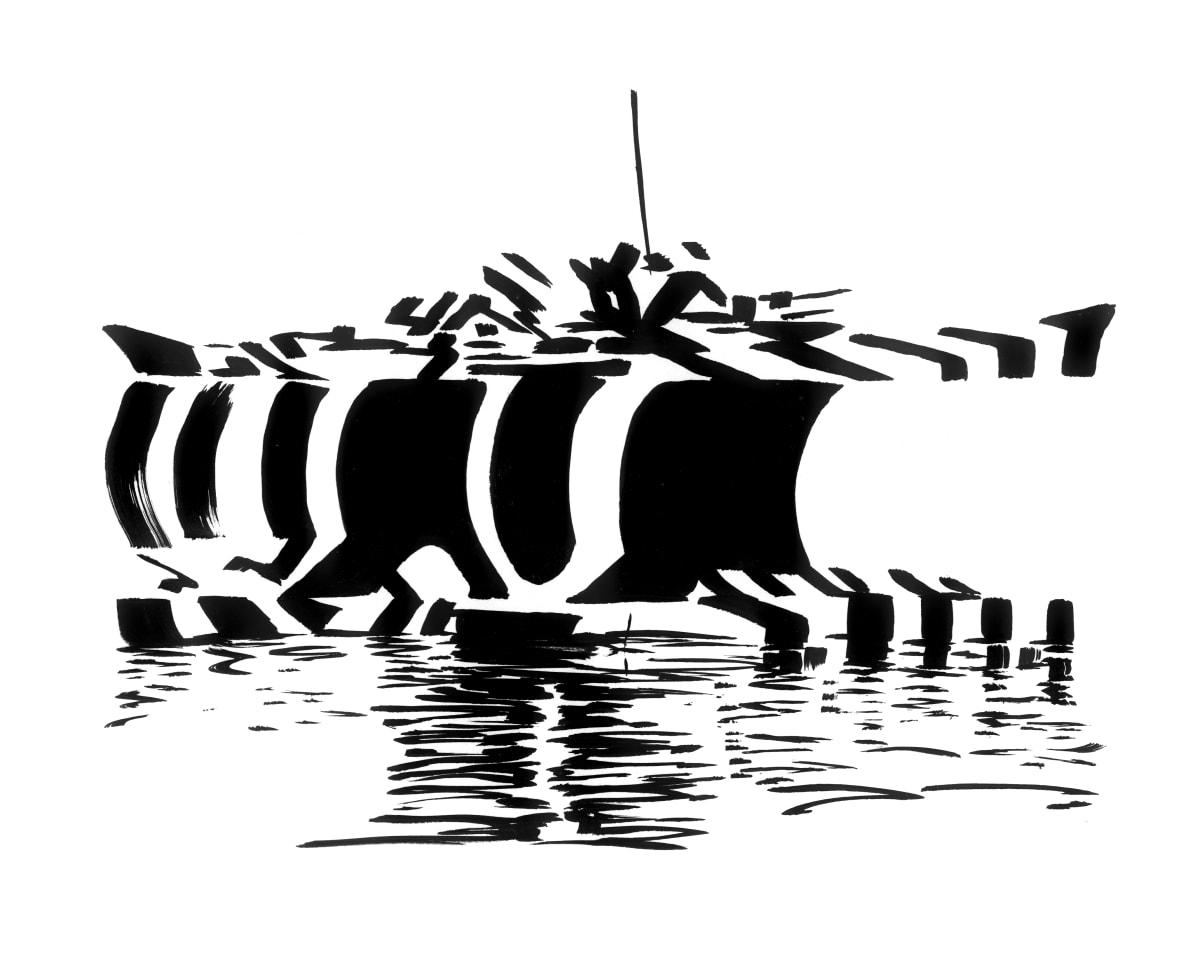 Darren Coffield Medusa III, 2019 India ink on paper 43 x 34.5 cm