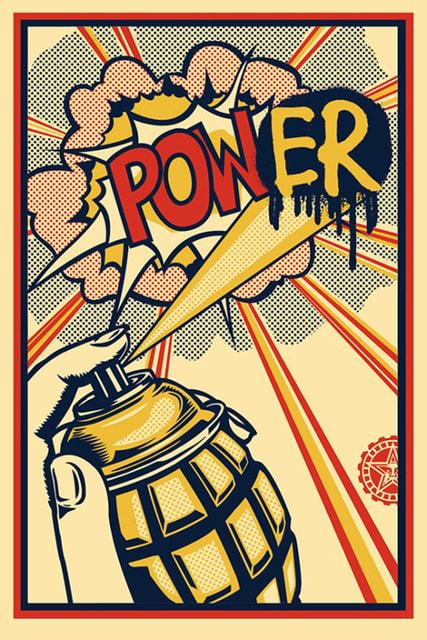 Shepard Fairey Power Offset, 2013 Screenprint 91 × 61 cm Open edition