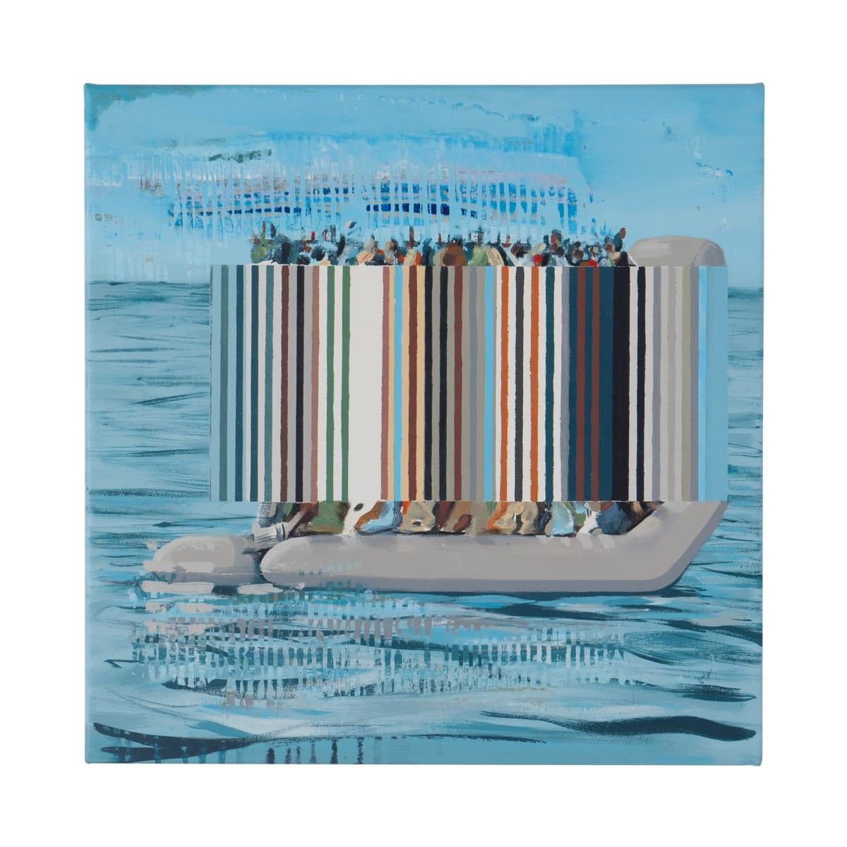 Darren Coffield The Deluge, 2019 Acrylic on canvas 45 x 45 cm