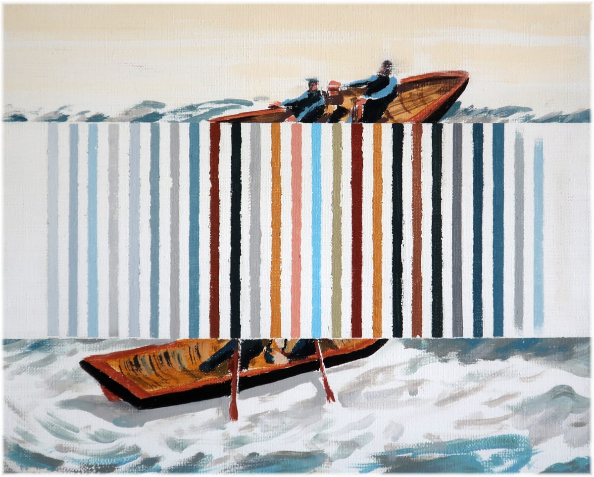Darren Coffield Lifeboat, 2019 Acrylic on canvas 24 x 30 cm