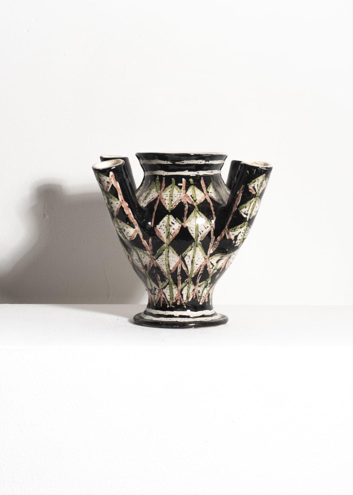 Prue Piper Patterned Flower Vase Tin glazed earthenware H 5 cm x W 8 cm