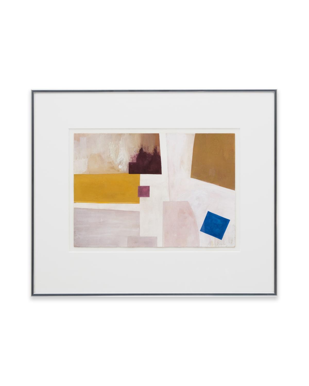 Emily Buck Composition 4 2019 Gouache on paper 30 x 21 cm