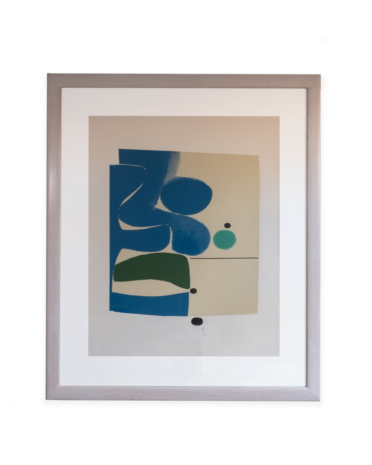 Victor Pasmore Blue Movements and Green 1980 Screenprint in colours on wove 99 x 83 cm