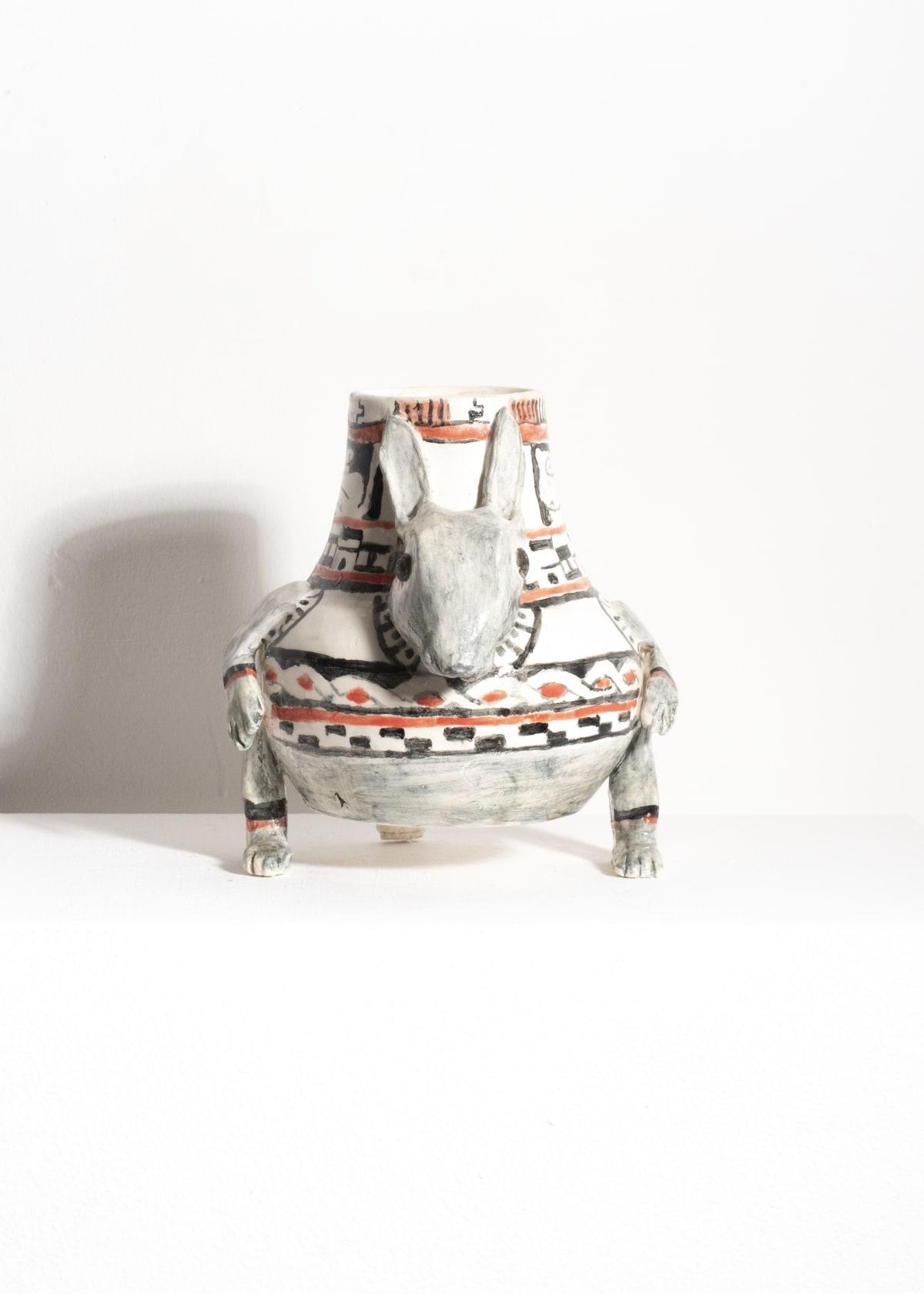 Prue Piper Costa Rican Rabbit Pot Decorated earthenware Height 20cm diameter 15cm