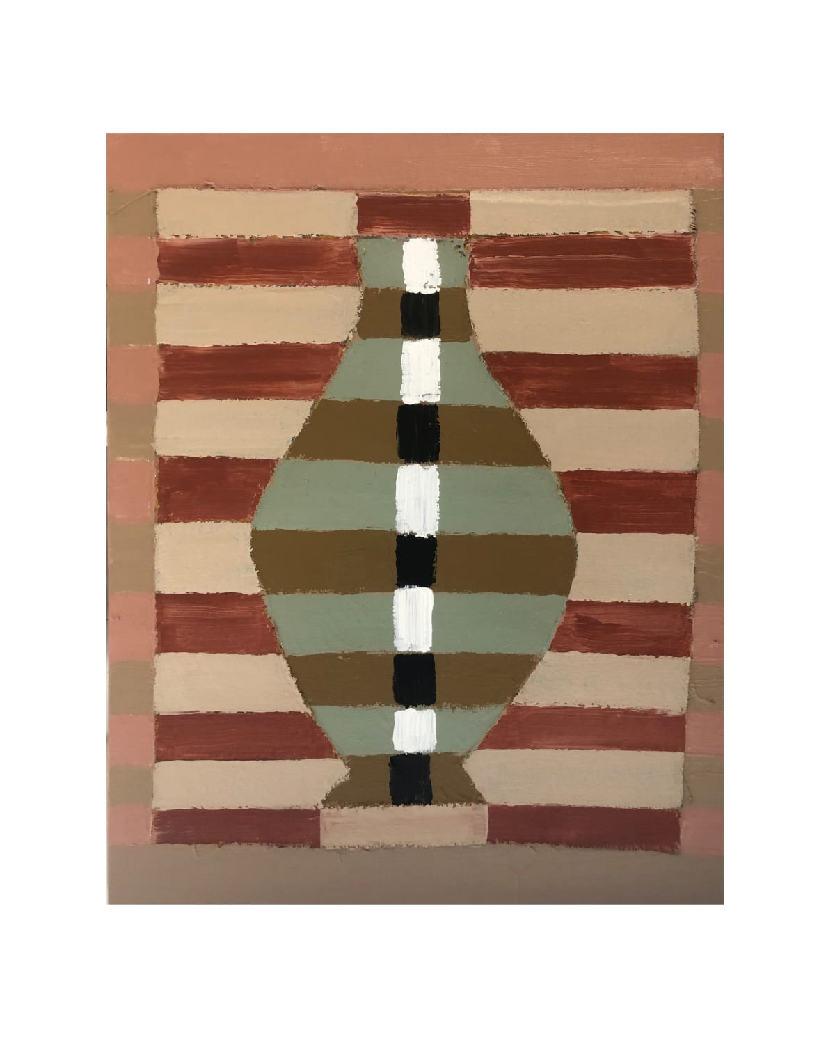 Wayne Pate Water Jug In Polychromy Abstract No. I Canvas And Acrylic On Linen 55 x 46 cm