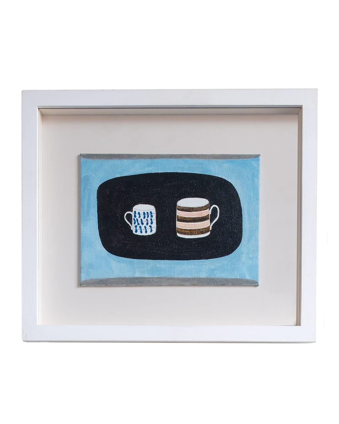 Rachel Nicholson Small and Striped Mug Oil on board h23.5 x w28 cm