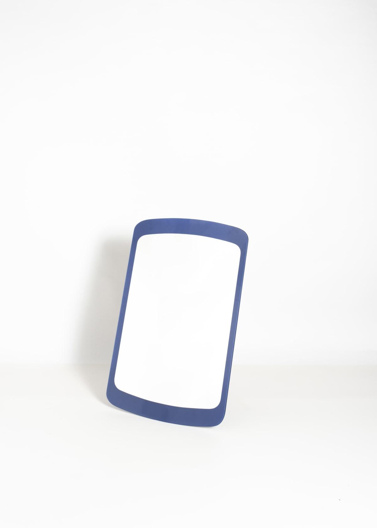 Fontana Arte Blue framed mirror Glass