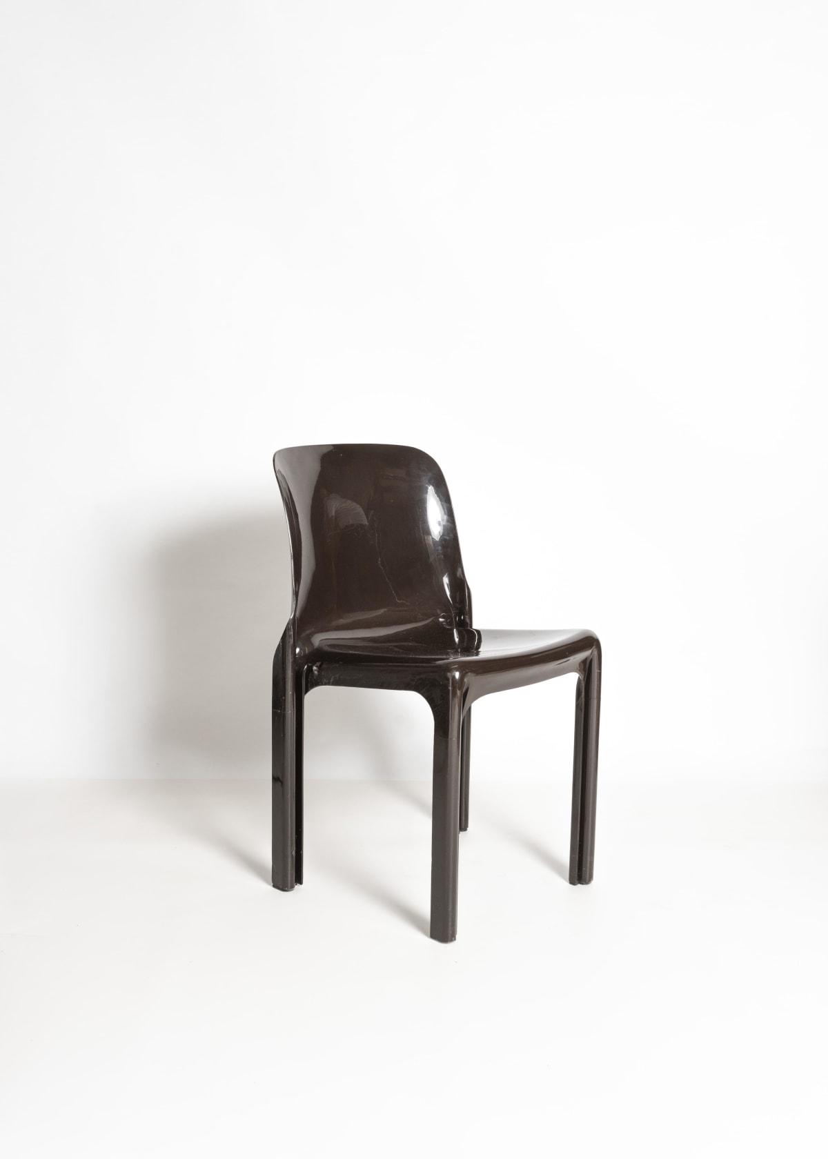 Vico Magistretti Dark brown 'Selene' chairs Designed 1969 For Artemide Moulded fibreglass Dimensions: 75 x 47 x 47 cm