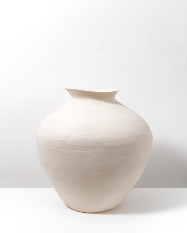 Ditte Blohm Large Foraar Vase Porcelain D: 27cm, H: 28.5cm