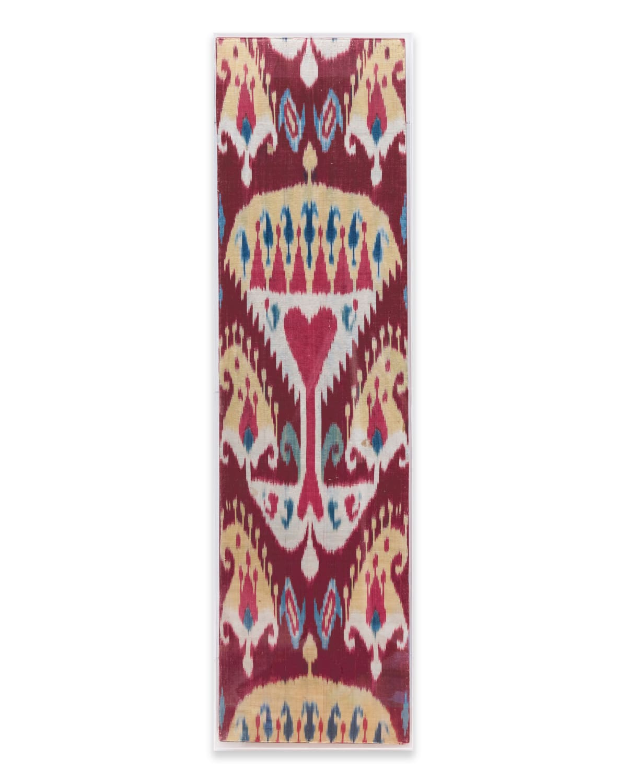 Uzbeck Ikat panel Silk, 5 colours 223 x 78 cm