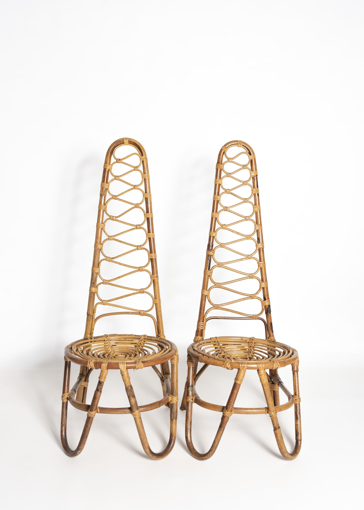 20th Century European Pair of 'Rivera' chairs Cane