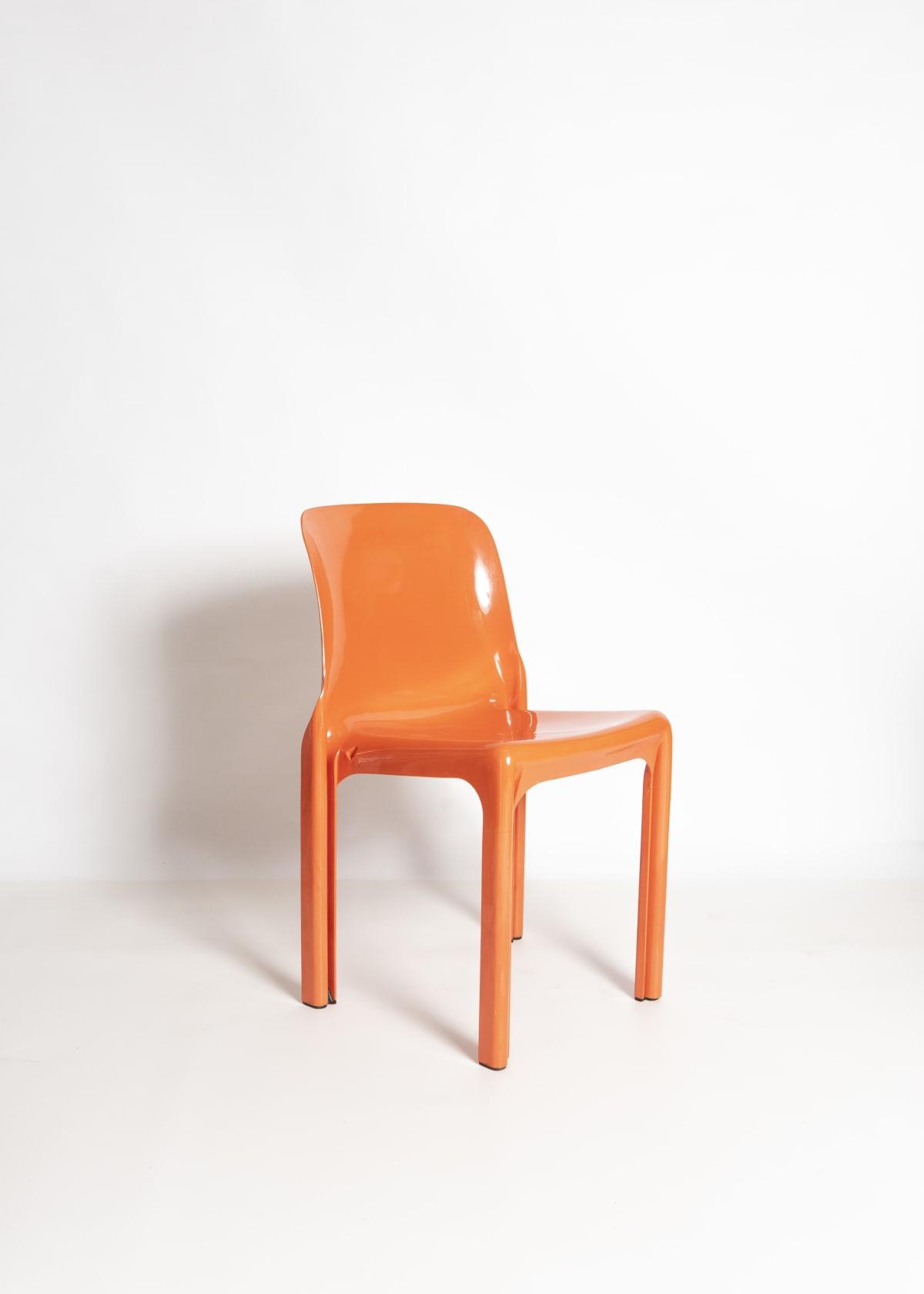 Vico Magistretti Orange 'Selene' chairs Designed 1969 For Artemide Moulded fibreglass Dimensions: 75 x 47 x 47 cm