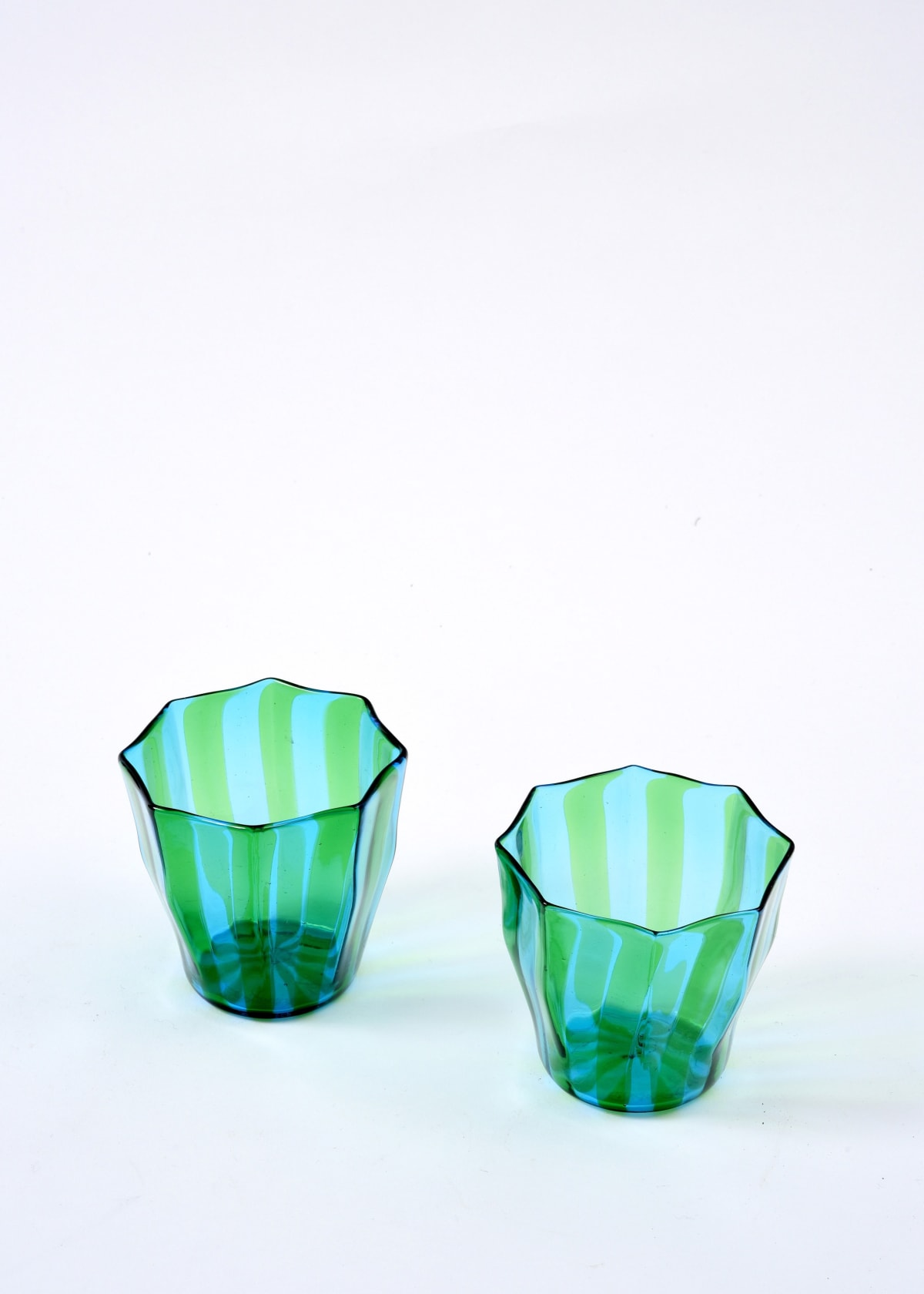 Campbell-Rey, Green and turquoise 'Rosanna' Murano tumbler