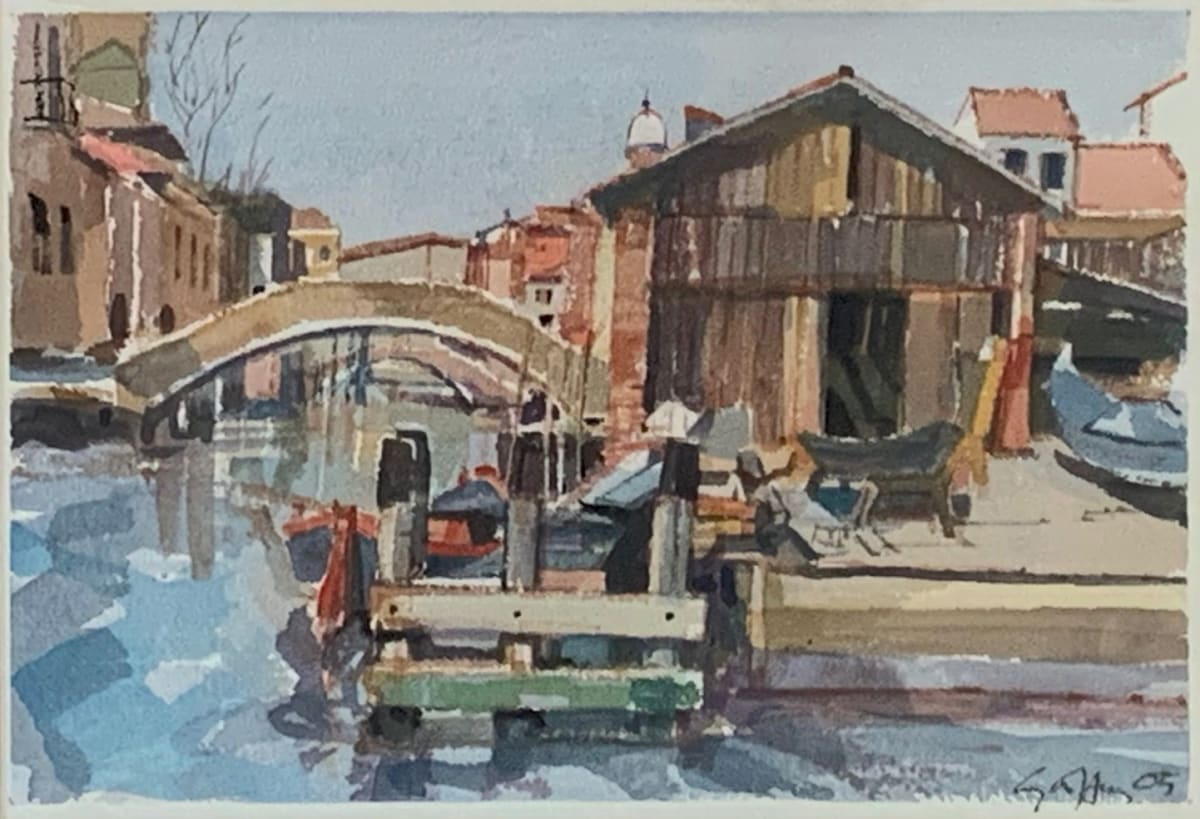 Geoffrey Humphries, Boatyard at San Trovaso, Venice, 2005