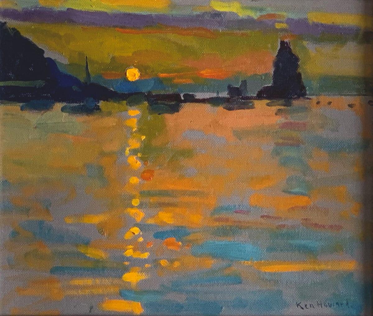 Ken Howard OBE RA, Sunset II, Volcano, 2009
