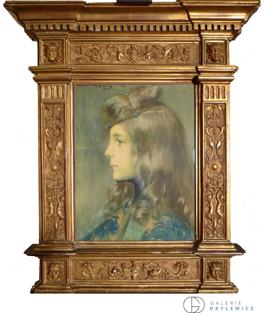 Lucien Victor Guirand de Scevola, Jeune fille de profil, 1899