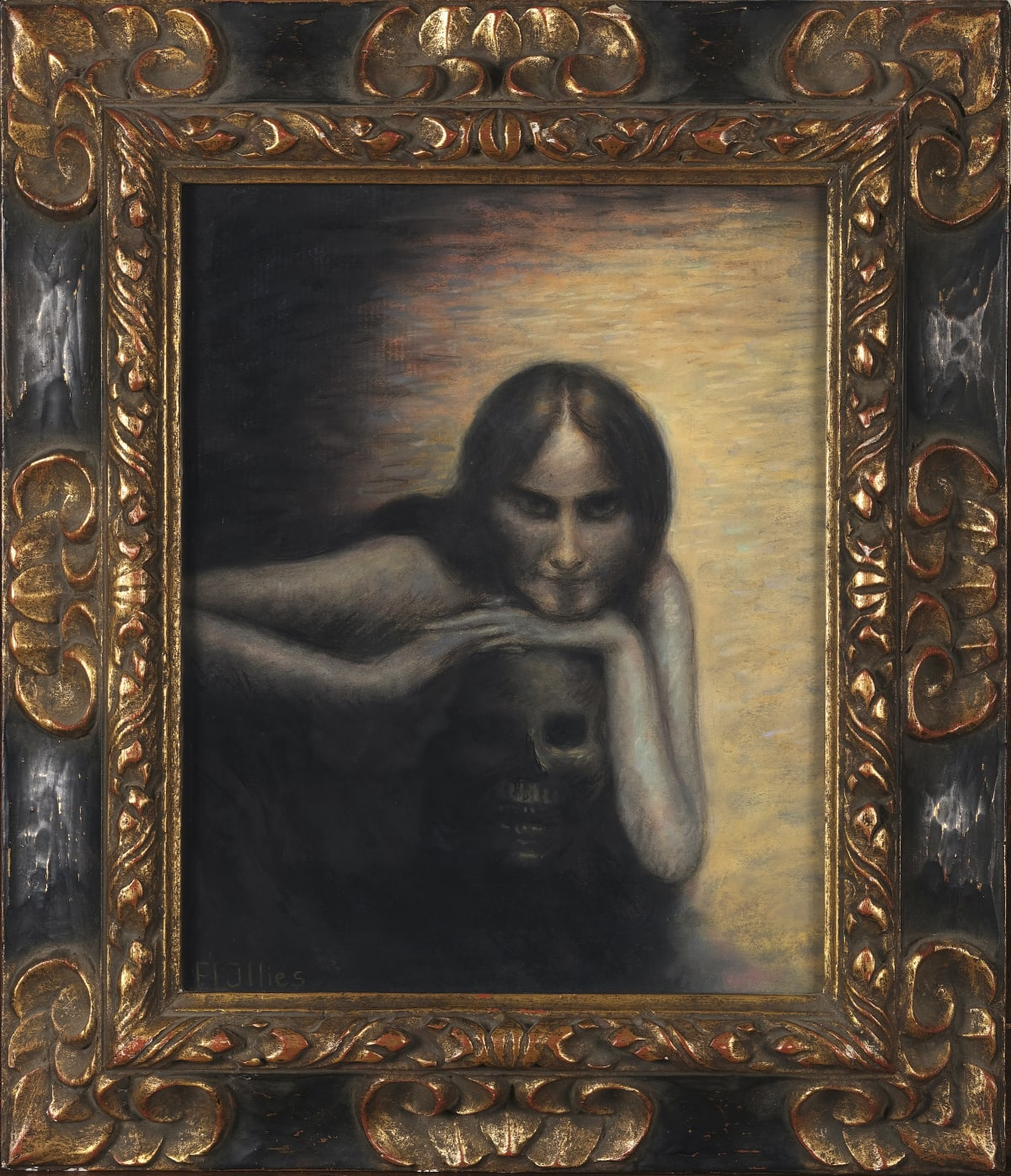 Arthur Illies Die Loreleï, circa 1895 Pastel 40,5 x 32 cm Signé en bas à gauche