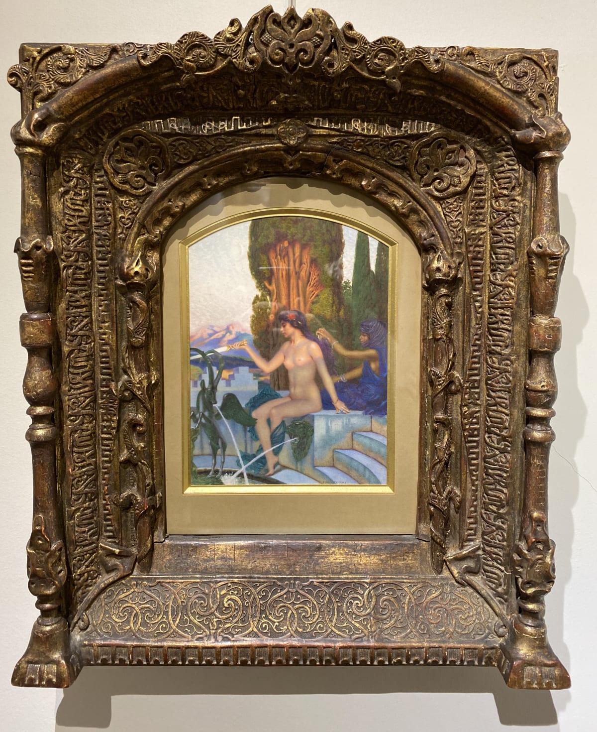 Maurice Ray Chrysis et l'esclave Djala Aquarelle et gouache 24 x 17,5 cm (50 x 40 cm encadré) Signé en bas à droite