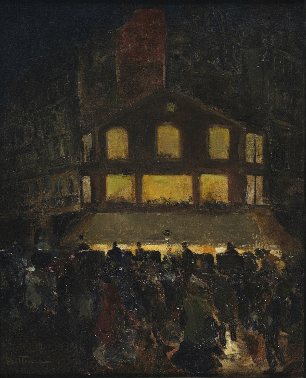 Louis Abel-Truchet Boulevard parisien la nuit, circa 1890 Huile sur toile 46 x 38 cm Signé en bas à gauche