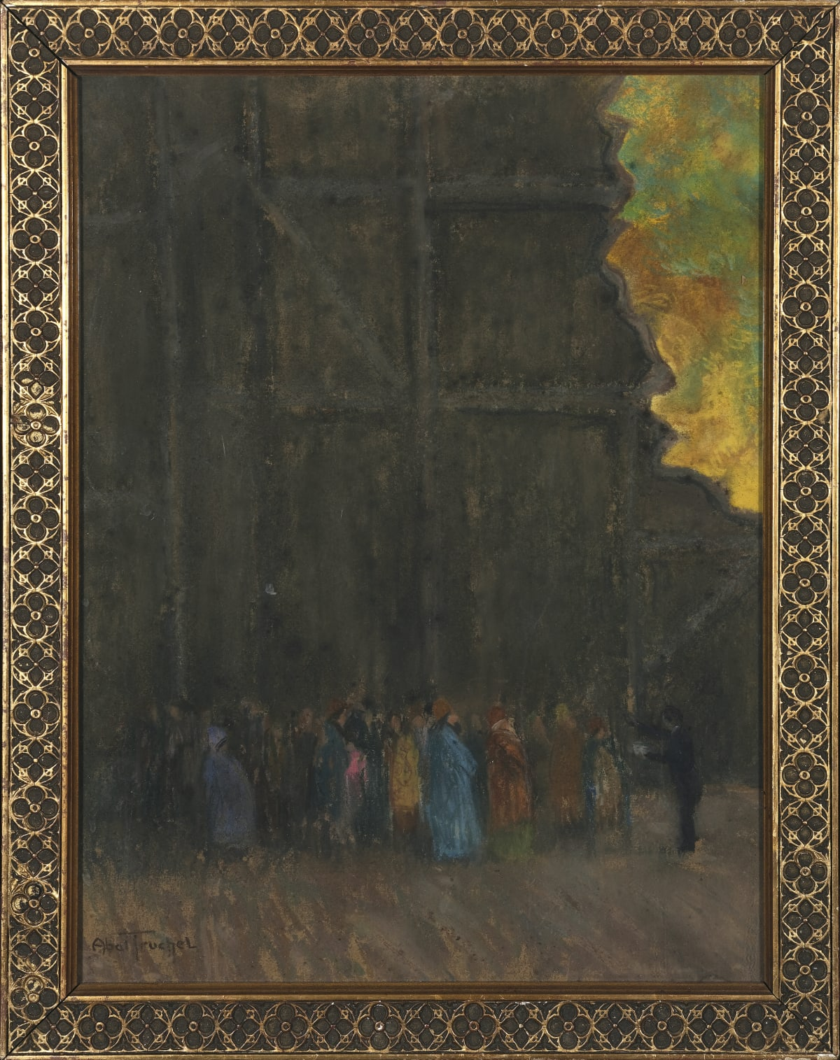 Louis Abel-Truchet Dans les coulisses Pastel 40 x 31 cm Signé en bas à gauche