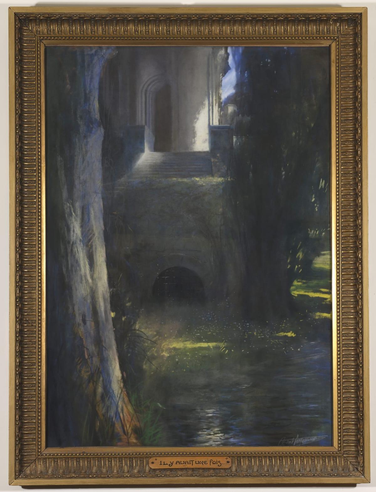 Antoine Charles Cazanave Il y avait une fois, 1923 Pastel 121 x 91 cm avec son cadre Signé et daté en bas à droite