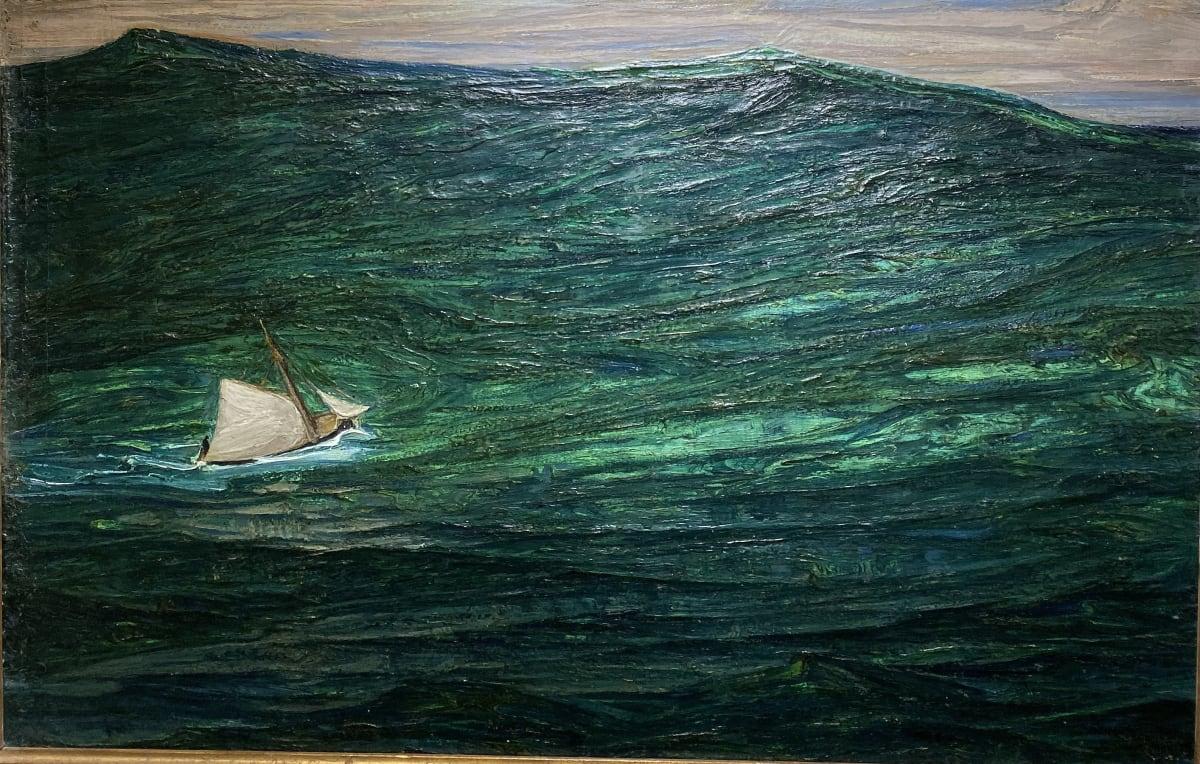 Auguste Matisse Dans la tempête, circa 1920 Huile sur toile 65,5 x 100 cm Signé en bas à droite