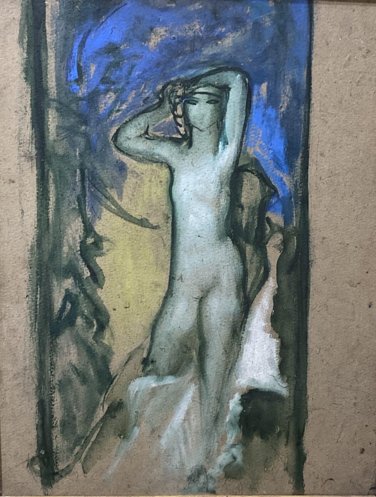 Pierre-Amédée Marcel-Beronneau Salomé , circa 1900 Huile sur carton 35 x 26,5 cm Tampon de la vente du fond d'atelier de l'artiste à Draguignan en 2009