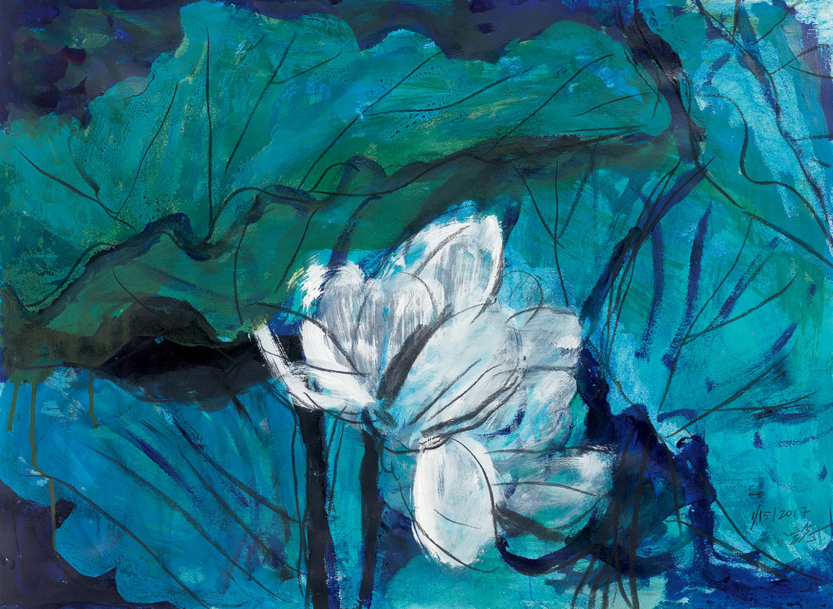 Wang Gongyi 王公懿, Lotus Diary II 荷日記(二), 2017