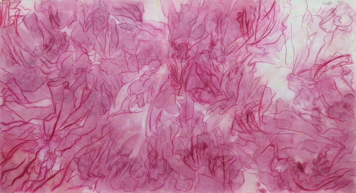 Wang Gongyi 王公懿, The White Flowers Under the Red Sky 紅色的天空,白色的花, 2015-2017