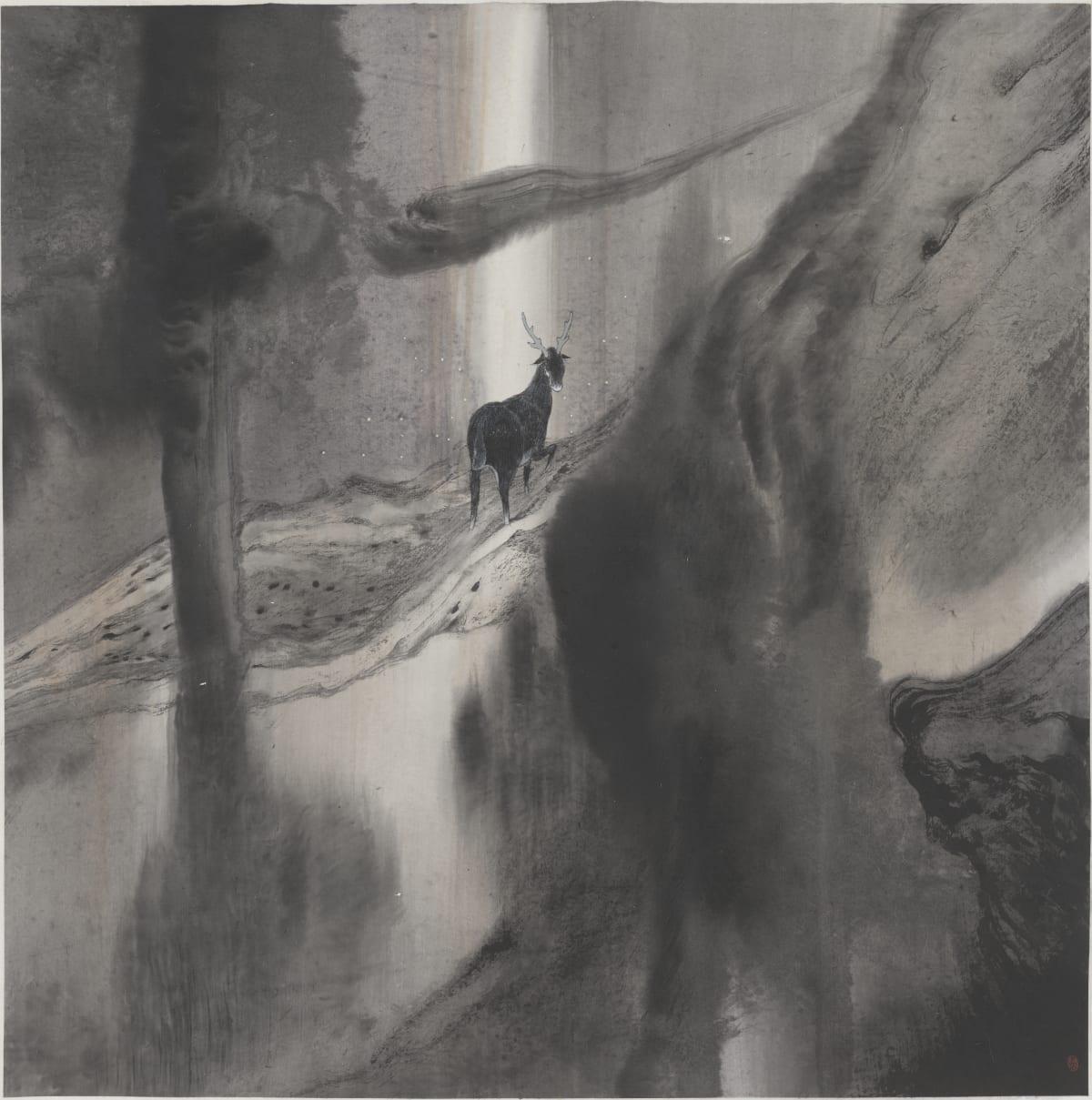 Lin Yusi 林于思, A Deer Looking Back 鹿回頭, 2014