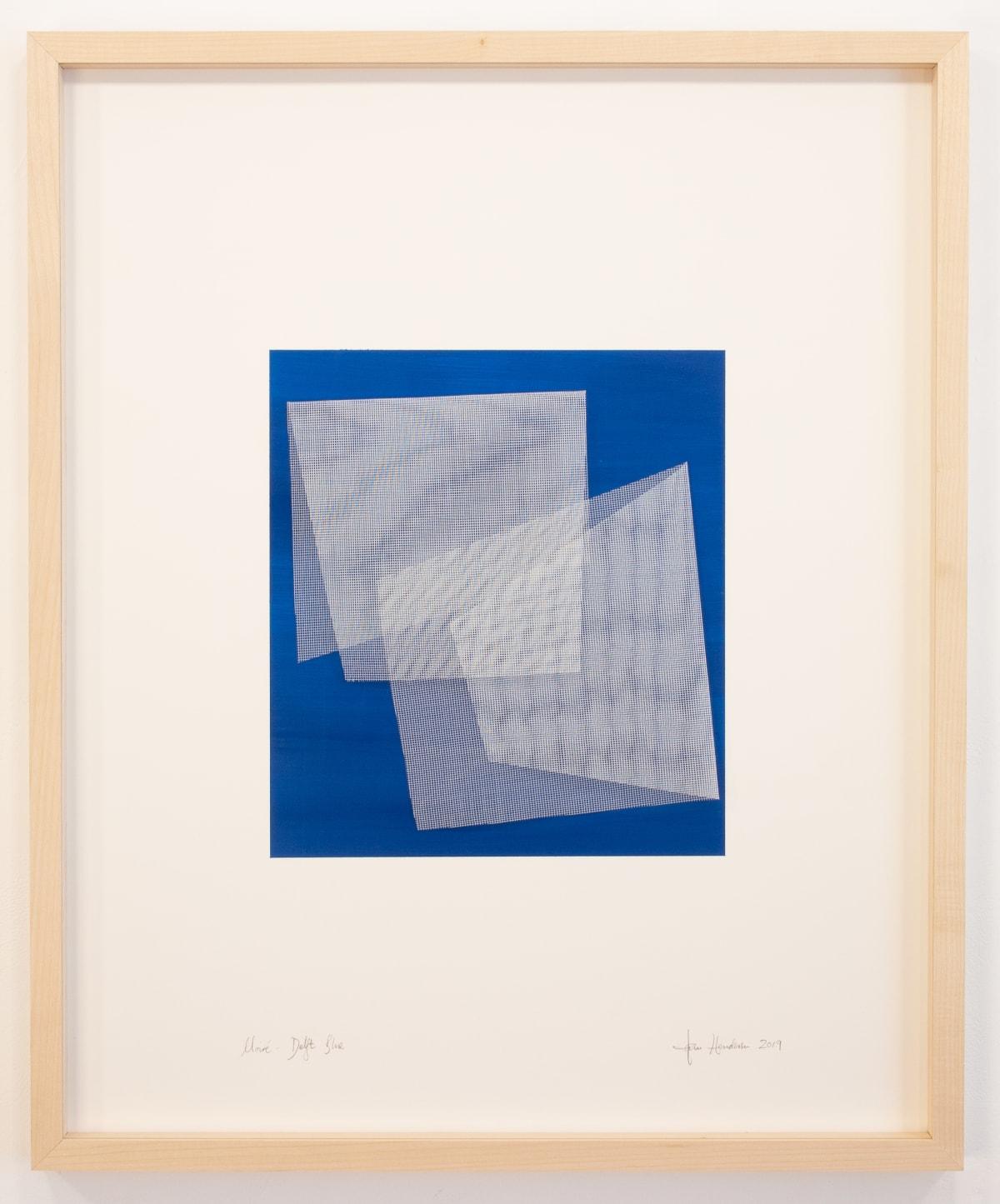 TOM HENDERSON, Moiré - Delft Blue, 2019