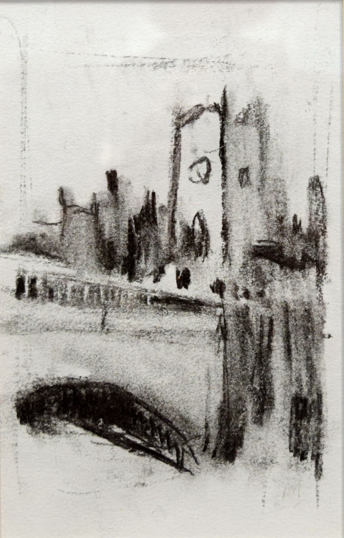 Ian Mood, Manchester Cathedral from Blackfriars Bridge