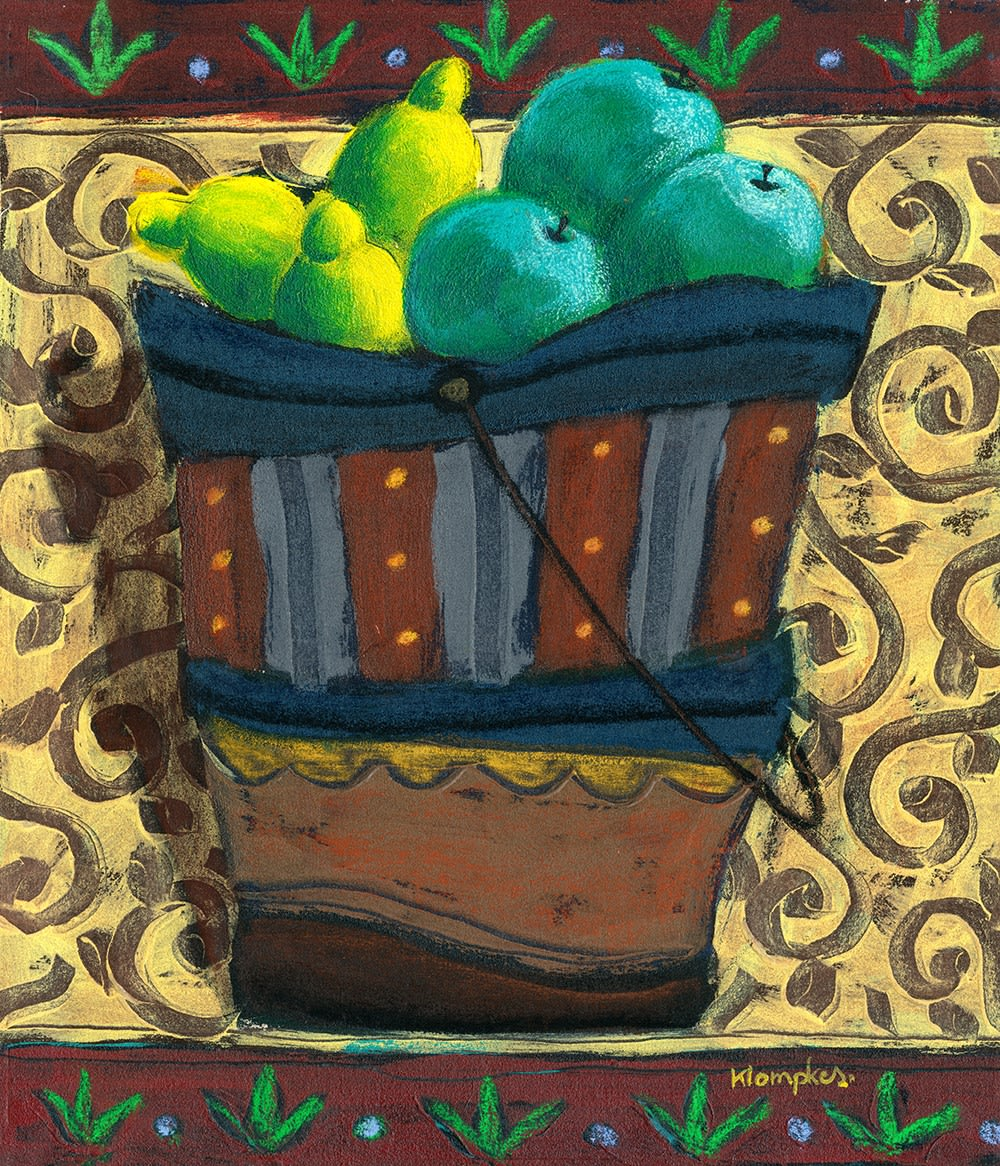 Olivier Klompkes, A Bucket of Green Fruit