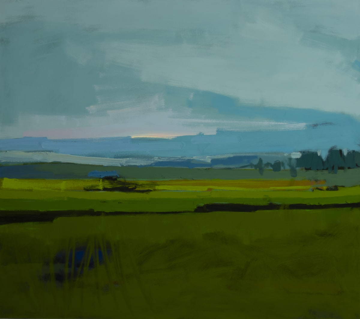Drew Klassen, View from a highway (the rain in Maine)