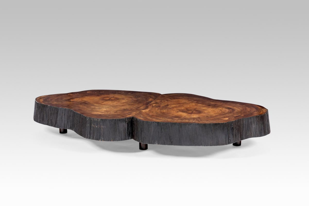 "Joaquim Tenreiro, Oval Coffee Table from solid ""trunk"" furniture series, 1955"