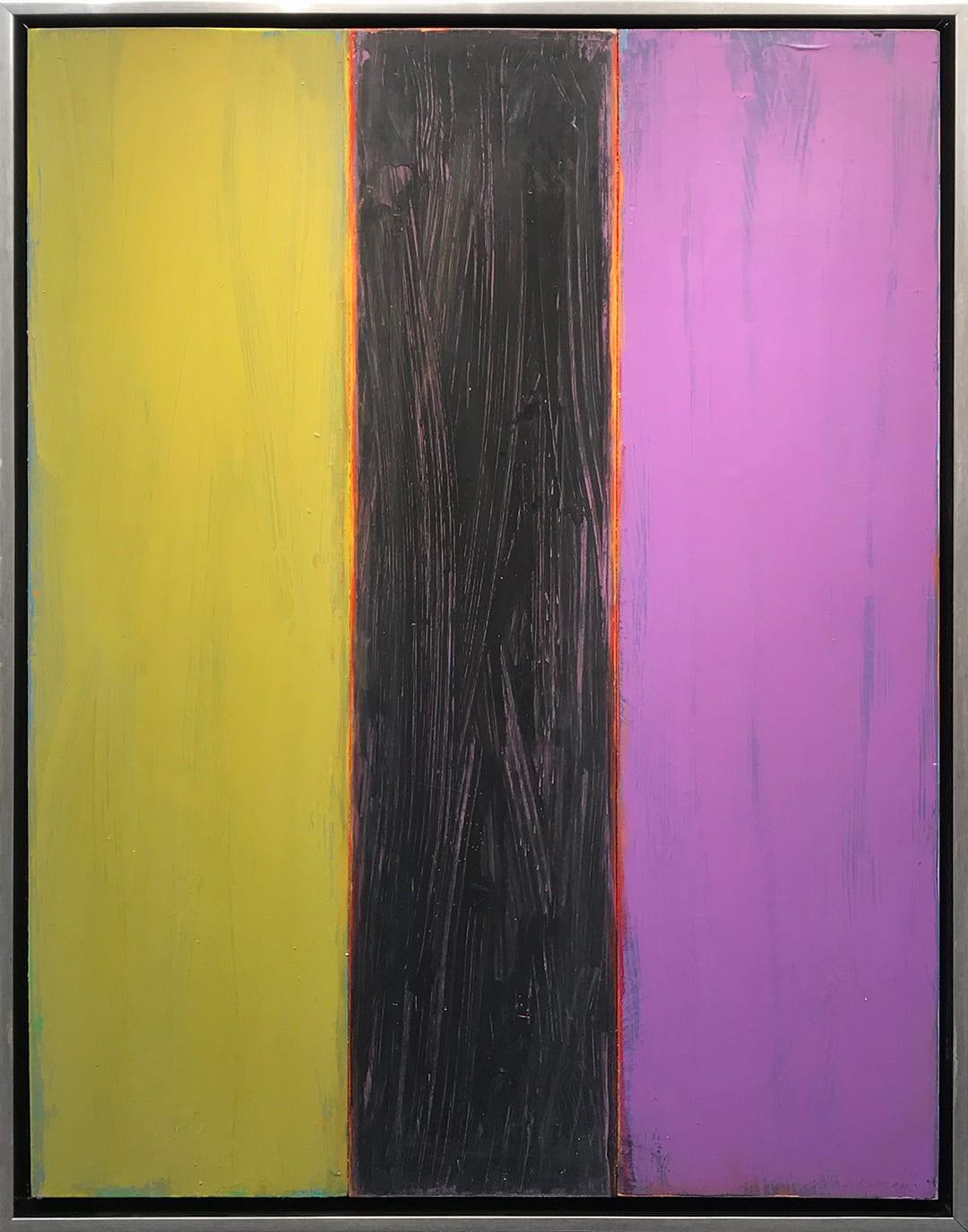 David Rothermel SLICE Acrylic on Wood panel 48 x 38 in 121.9 x 96.5 cm