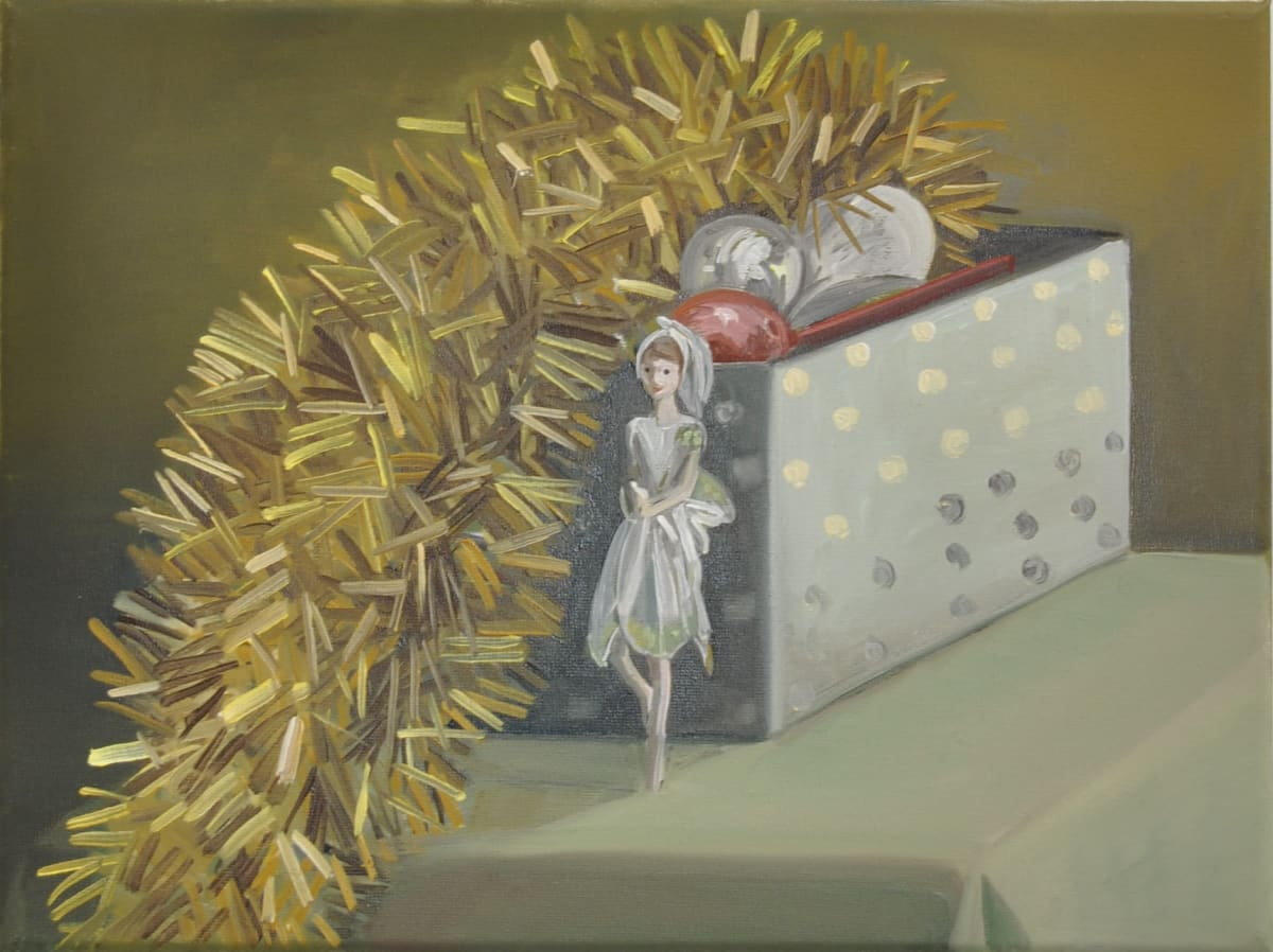 Shibu Natesan b. 1966Decoration Objects, 2015 Oil on canvas 30 x 40 cm 11 3/4 x 15 3/4 in