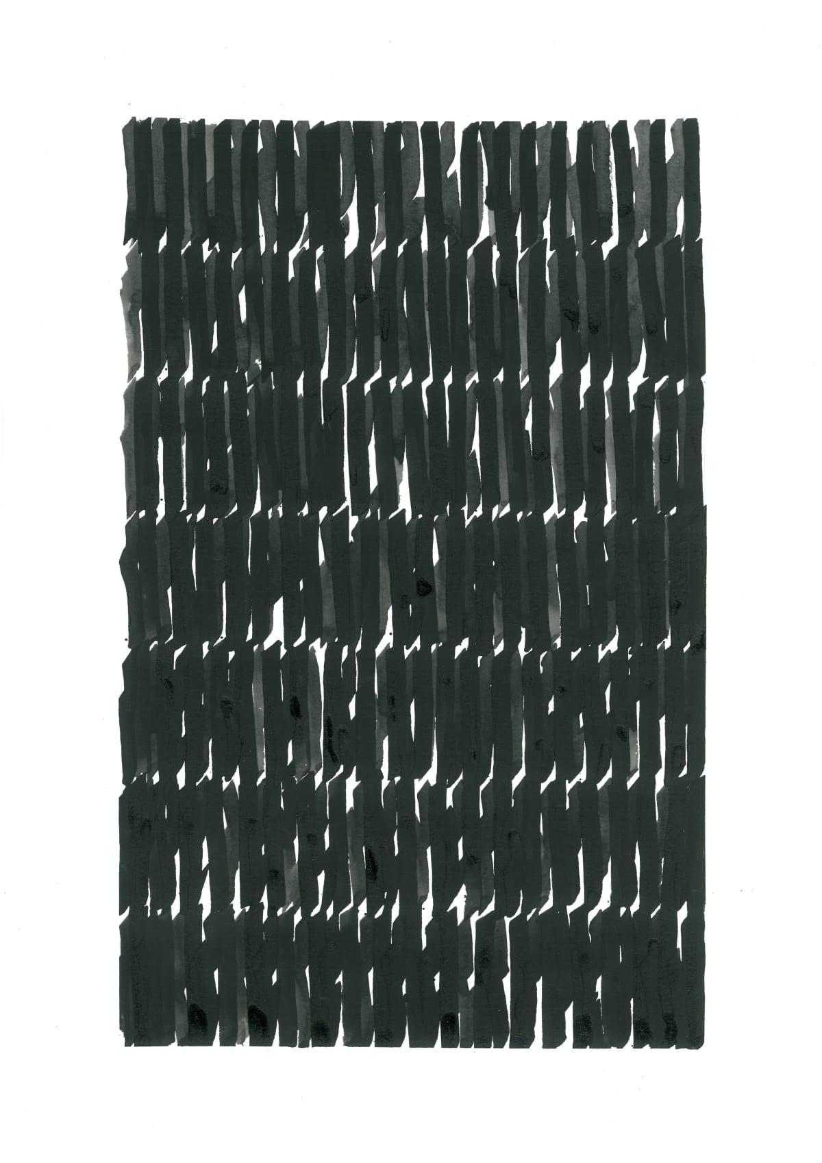 Mohammad Ali Talpur Untitled (Alif Series, 9), 2020 Ink on paper 42 x 29 cm 16 1/2 x 11 7/16 in