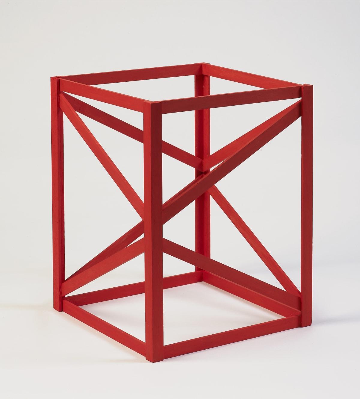 Rasheed Araeen Multi-Red, 1968-2018 Acrylic on wood 30 x 23 x 23 cm 11 3/4 x 9 1/8 x 9 1/8 in Edition of 50