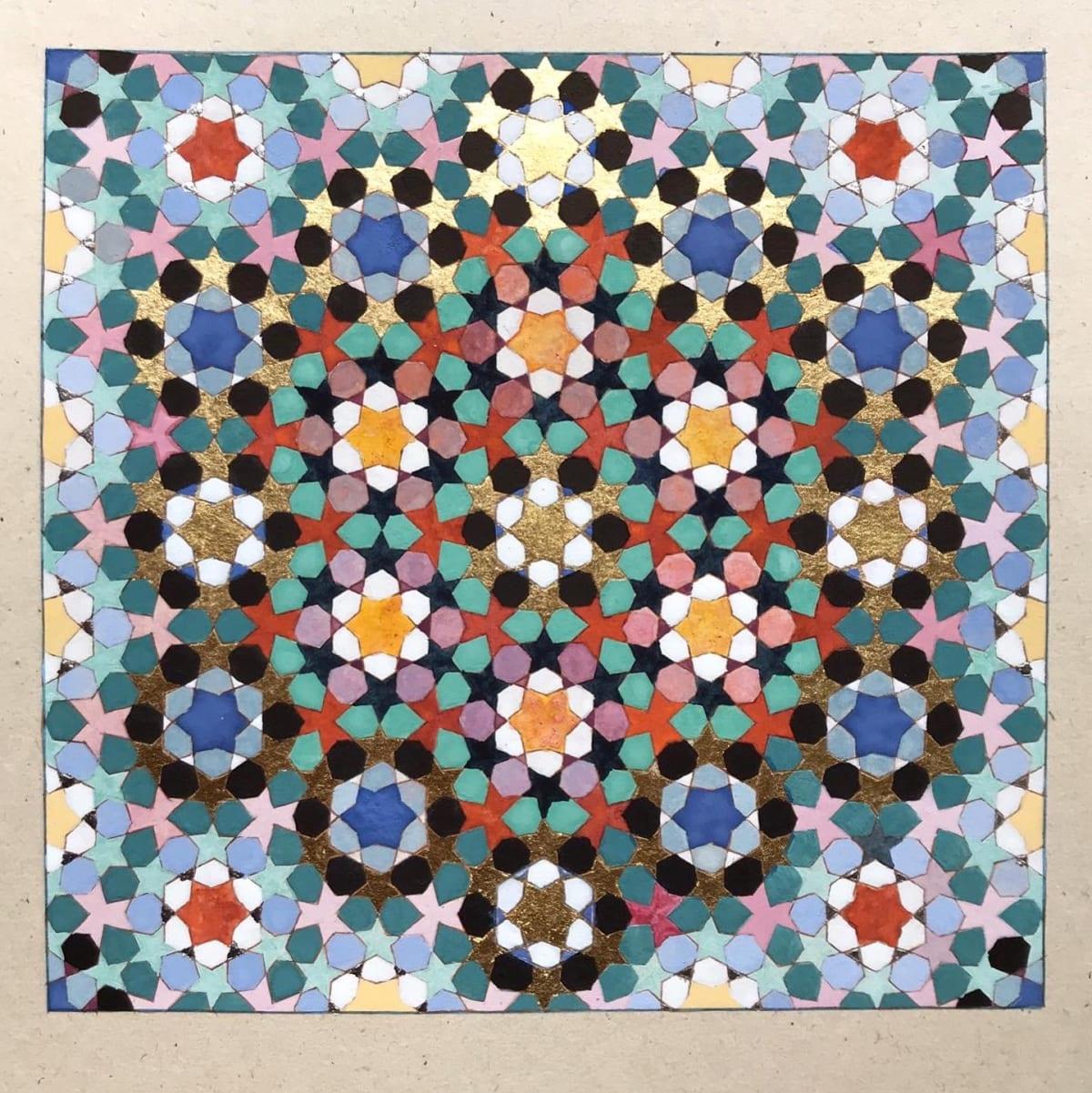 Elisabeth Deane All Gifts, 2020 Italian gold leaf, palladium leaf, natural pigments and Arabic gum on handmade Indian hemp paper 16.8 x 17.4 cm 6 5/8 x 6 7/8 in