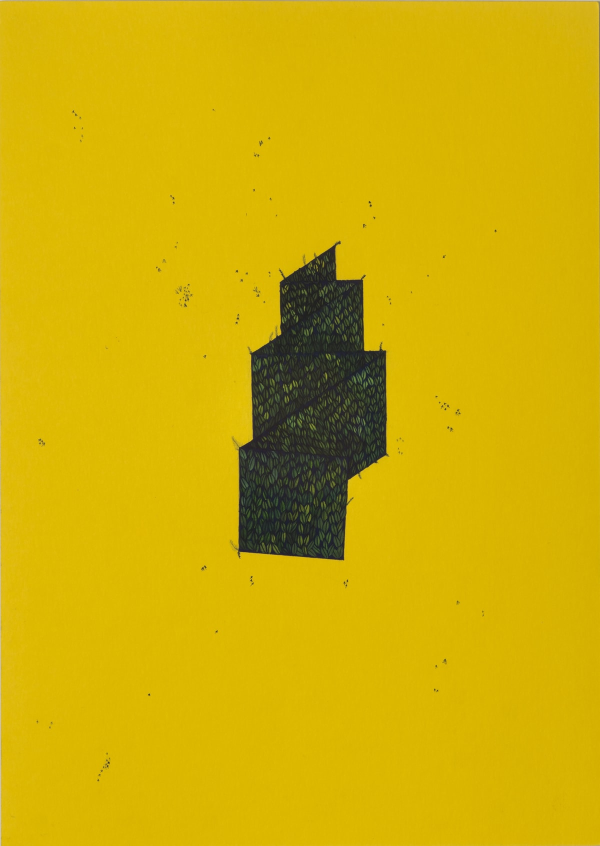 Wardha Shabbir An Object in Space, 2019 Gouache on paper 29 x 25.6 cm 11 3/8 x 10 1/8 in