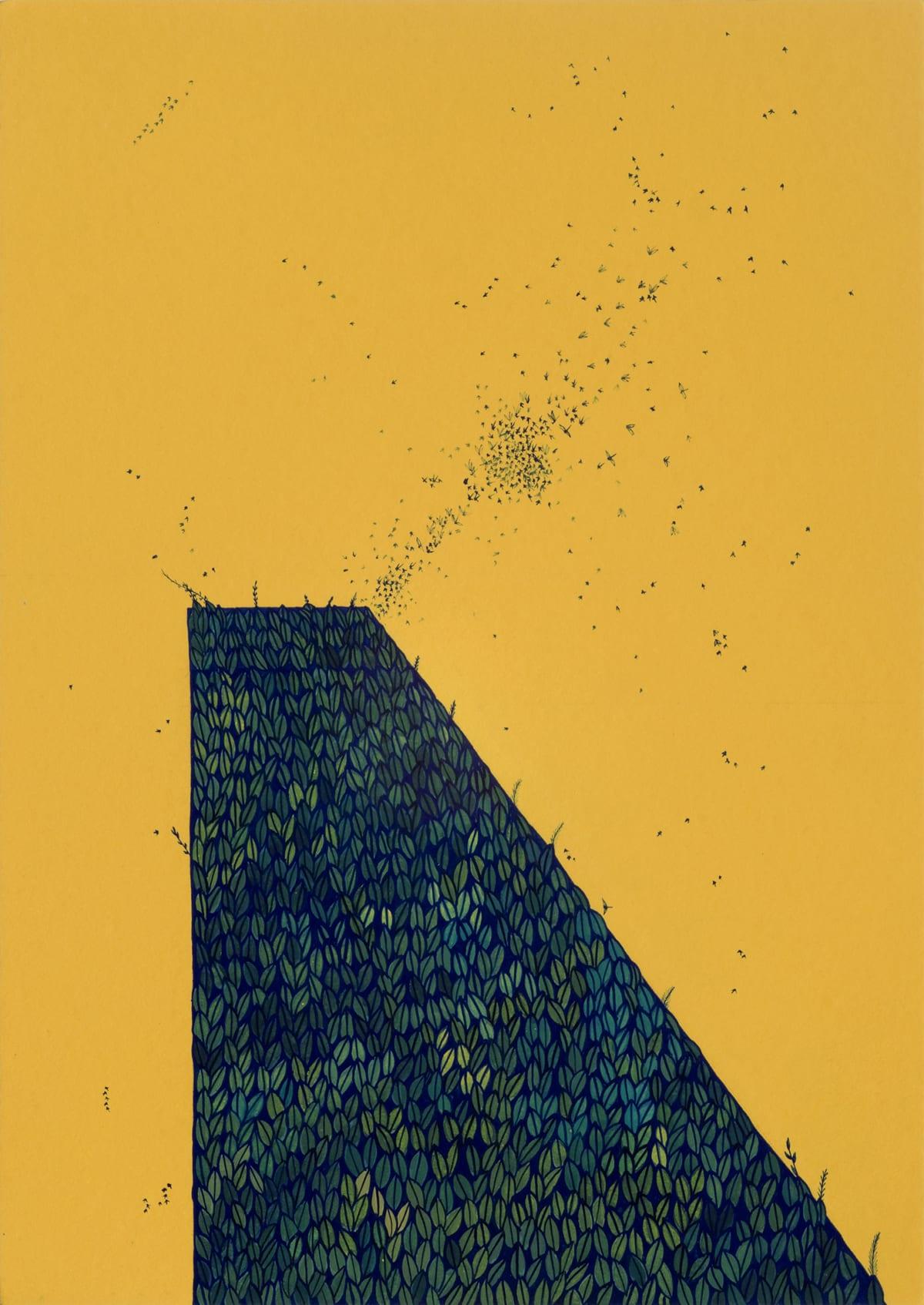 Wardha Shabbir Territory, 2020 Gouache on paper 29 x 25.6 cm 11 3/8 x 10 1/8 in