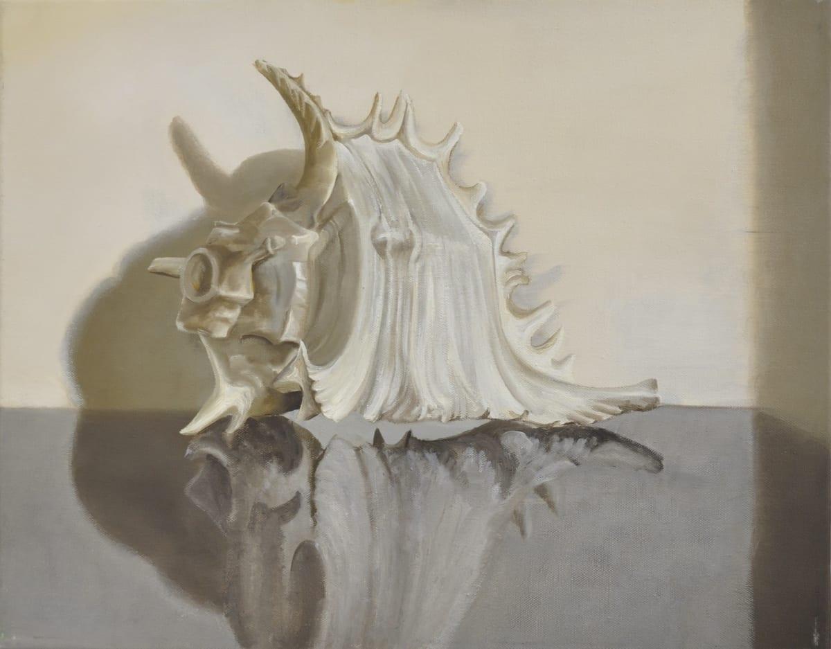 Shibu Natesan b. 1966Untitled, (Still Life with Shell), 2016 Oil on canvas 40 x 51 cm 15 3/4 x 20 1/8 in