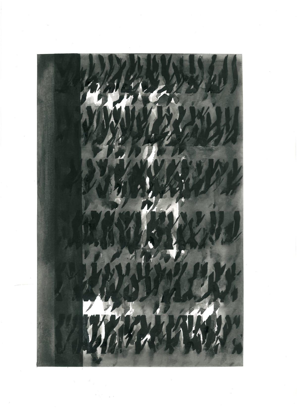 Mohammad Ali Talpur Untitled (Alif Series, 7), 2020 Ink on paper 42 x 29 cm 16 1/2 x 11 7/16 in