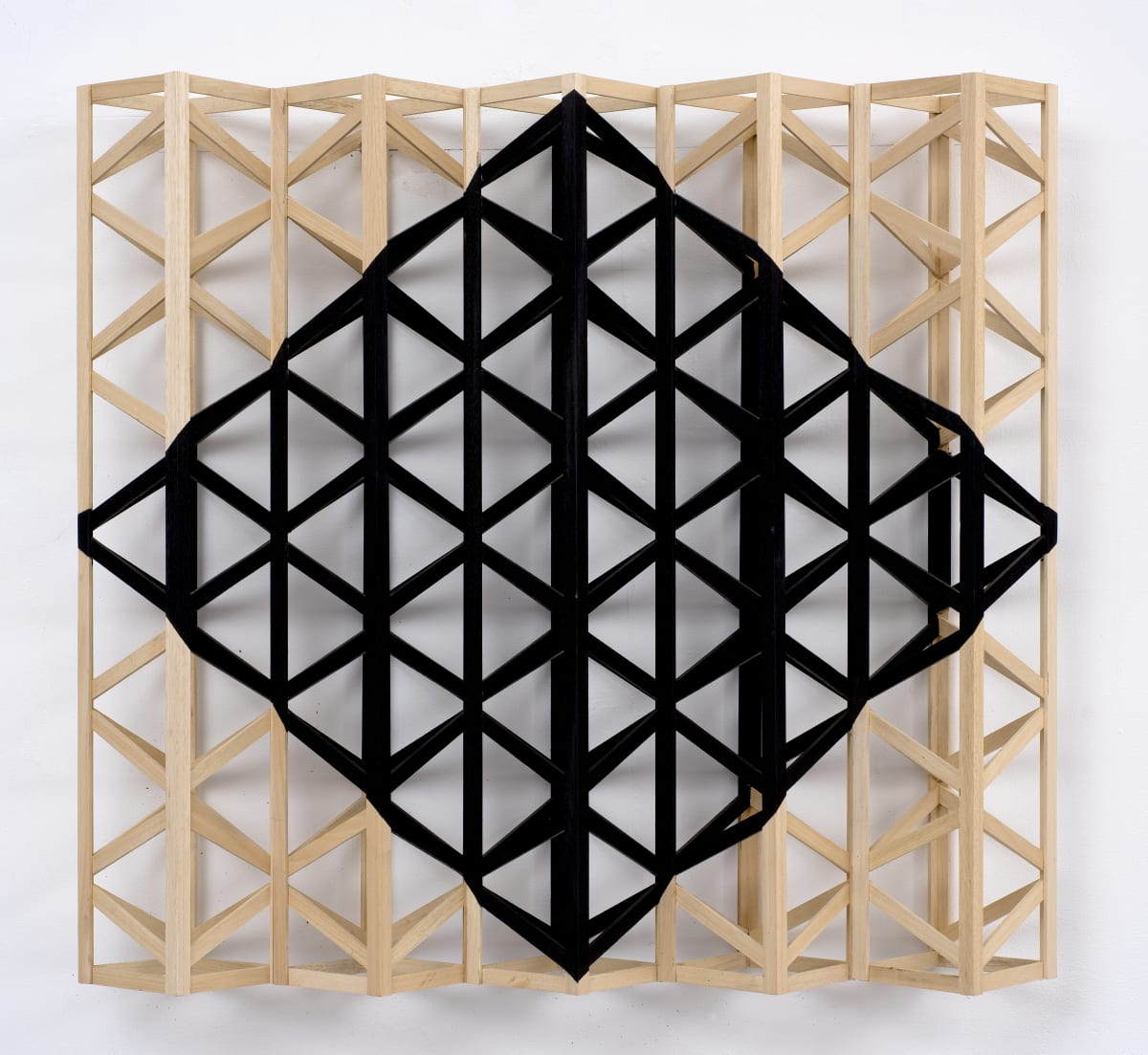 Rasheed Araeen One Black Diamond, 2019 Acrylic on wood Each 80 x 87 x 18 cm 31 1/2 x 34 1/4 x 7 1/8 in