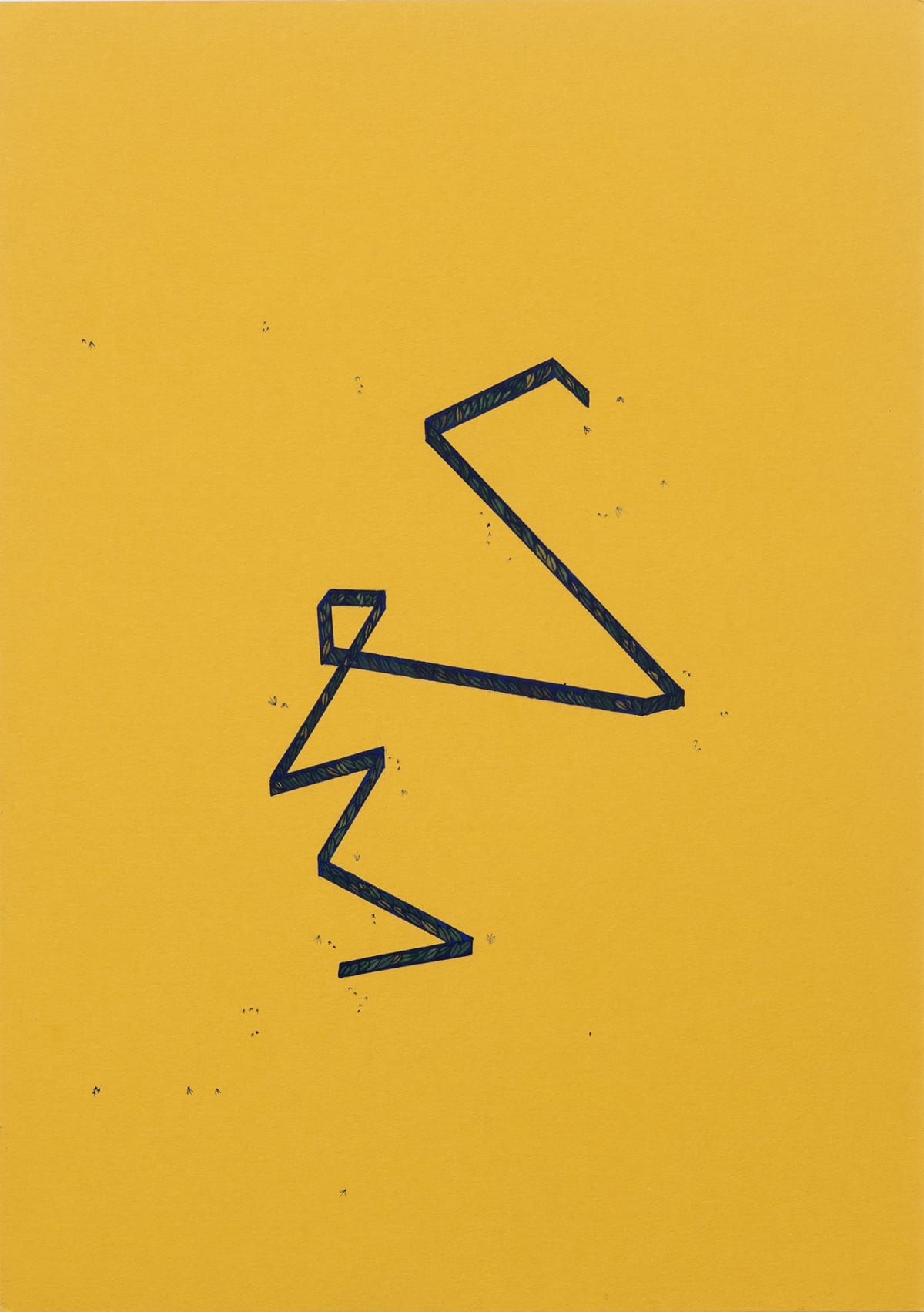 Wardha Shabbir A Drawing of a Map, 2020 Gouache on paper 29 x 25.6 cm 11 3/8 x 10 1/8 in