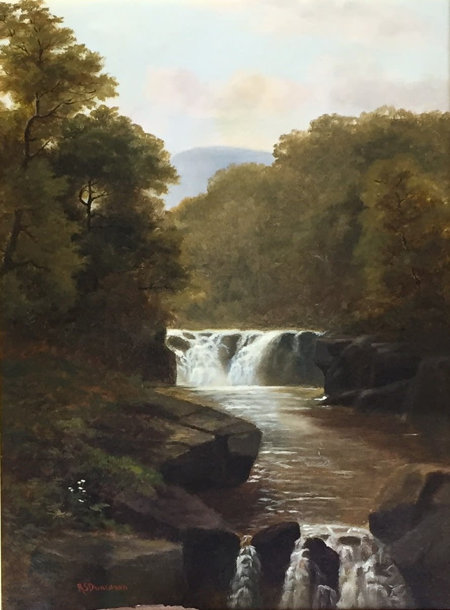 Robert Scott Duncanson Waterfall and Trees, 1869 Oil on Canvas Unframed: 16 x 12